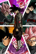 Dragon Ball Super Poster Goku Black/Rose Different Faces 12inx18in Free Shipping
