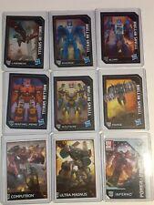9 PIECE LOT TRANSFORMERS CHARACTER TRADING CARDS 2015 2107 HASBRO LASERBEAK BLUR