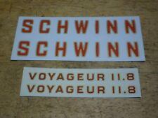 Complete Schwinn Voyageur 11.8 Bicycle Water Transfer Frame Decal Set