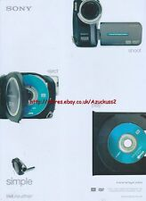"""Sony Handycam """"Shoot Eject Play Simple"""" 2005 Magazine Advert #3138"""