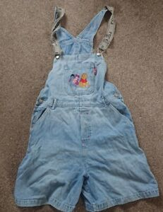 Vintage Womens Winnie The Pooh Denium Embroded Dungarees Size Large