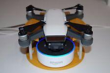 World#1 DJI Spark Drone Alexa Amazon Echo Voice WiFi Remote Power ON Launch Base