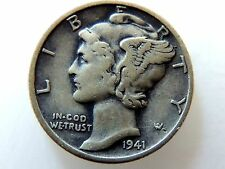 1941-D Mercury Silver Dime Book Filler