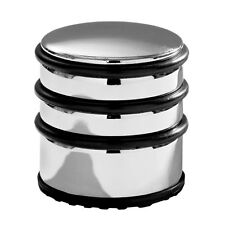 CHROME DOOR STOPPER WITH RUBBER PROTECTORS NON SLIP ROUND HOME OFFICE USE NEW