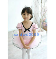 New Girls Party Ballet Costume Tutu Leotard Skirt with Panty Dance Dress SZ 3-8Y