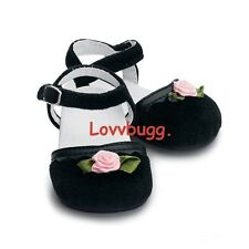 """My Twinn Black Velvet Shoes for 23"""" Girl Doll Wow Selection Accessories"""