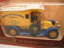 MATCHBOX MODELS OF YESTERYEAR 1:38 Y-25 1910 RENAULT AG JAMES NEALE & SONS MIB
