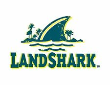 "Landshark Vinyl Sticker Decal 18"" (full color)"