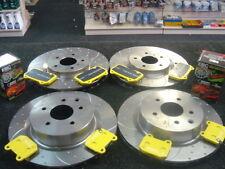 Per NISSAN 350Z le prestazioni dei dischi dei freni Increspato Scanalato Pastiglie Freno Anteriore Posteriore