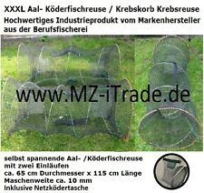 XXXL 115x65cm Aalreuse Köderfischreuse Krebsreuse Reuse Köderfisch Krebskorb Aal