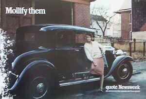 Original Vintage Poster Placard Newsweek Gangster Moll Bonnie Clyde 1920s Mob