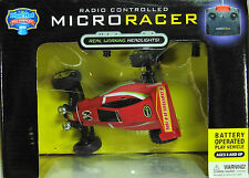 Toy Micro Racer Radio Controlled Blue Hat Working Headlights Full Function   841