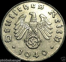Germany  German 1940B Reichspfennig Coin  Rare 3rd Reich World War 2