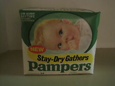 Vintage Pampers Diapers Stay Dry Gathers original Sealed Rare