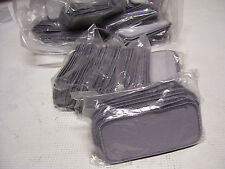 100 Count Printable Embroidery Name Patch Blank Gray/Gray Border Iron/Sew On