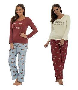 Ladies 'Dear Santa' Christmas / Xmas Slogan Pyjama Set ~ UK 8 - 18