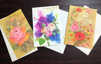 Vtg Mixed Lot 3 70's Greeting Cards Thanksgiving Friend Mother Day Notcross NOS