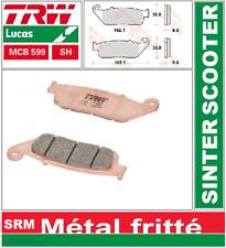 2 Plaquettes frein Arrière TRW MCB599 SH Sinter Honda VFR 750 F 90-97
