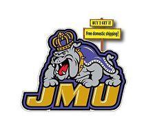 James Madison University Dukes JMU Decal/Sticker 3x3.8 NCAA p132