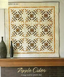 Apple Cider Quilt Pattern Pieced/Applique NM