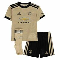 adidas Kids Boys Manchester United Away Mini Kit 2019 2020 Domestic Minikits