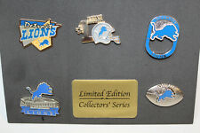 Detroit Lions PIN SET NFL Football 5 Pins Collectors Series