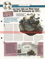 MOTO GUZZI V 850 GT + Side-Car Watsonian 1973 Joe Bar Team Fiche Moto #005350