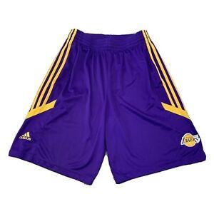 ADIDAS 2010 NBA LA LAKERS ADIDAS BASKETBALL SHORTS  RARE RETRO size M