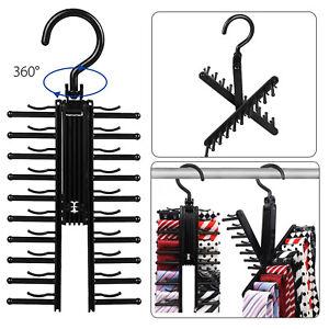 Adjustable X Neck Tie Rack Hanger Non-Slip Belt Compact Closet Holder Organizer