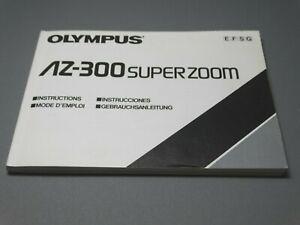 Olympus AZ-300 Superzoom Camera Instruction Manual - Original not a copy