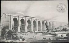 OLD POSTCARD OF RAILWAYS IN THE THIRTIES - SANKEY VALLEY VIADUCT