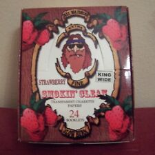 Strawberry King Size Smokin' Clean Cigarette Rolling Papers 1 box 24 booklets