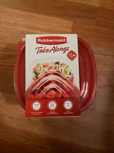 Rubbermaid 7F54 Takealongs Deep Square Container, 42 Oz, Pack-4