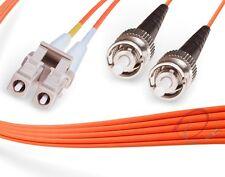 OM1 LC-ST 62.5/125 Multimode Duplex Fiber Cable - [ 1 Meter ]
