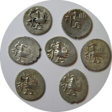 elf Cambodia Kingdom 1/8 Tical 1 Fuang  (1847) Silver Hamza Bird w/ Circle