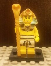 Lego NEW Series 2 Pharaoh Minifigure With Gold Snake Staff