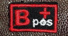 Blood Group Type B positive B+ Biker medical Information Patch for Vest Jacket