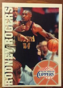 RODNEY ROGERS,LOS ANGELES CLIPPERS-BASKETBALL 95/96 PANINI STICKERS  Sticker 223