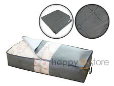 Under-Bed Organizer Under the Bed Storage Bag Gray for Blankets Season items