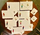 Vintage Handcrafted Appliqué & Embroidered Cocktail Napkins (9) & Placemats (8)