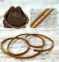 Patina Leather Drawstring Replacement cord Strap For Petite Noe Drawstring Bag