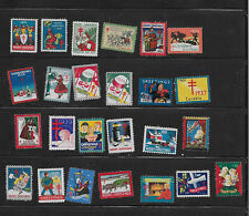 Old Mint Christmas Seal  Stamp Collection 1926 - 1950 Issues  (25 Stamps)