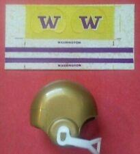 1970 NCAA Vintage Washington HUSKIES mini gumball football helmet decal college
