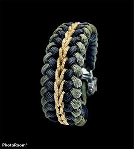 Paracord *USA* Survival Bracelet Handmade Sanctified Endless Falls Snap Shackle