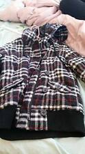 Zenana Winter Thick Flannel Plaid Black Red Punk Emo Scene Jacket S COAT