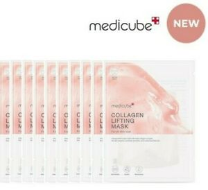 Medicube New Collagen Lifting Mask Sheet 10 pcs Set Wrinkle Moisturizing Soothe