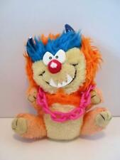 Rare My Pet Monster Kuddlee Uglee Orange Creature w/ Chain Plush Soft Toy 1980s