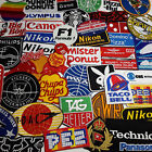 TOP BRANDS & COMPANY LOGO PATCHES - Iron-on Embroidered Patch Collection
