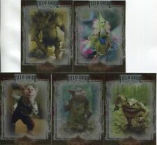 The Spiderwick Chronicles Complete Unreleased Field Guide Chase Card Set SC1-5