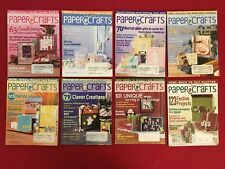 Lot of 8 Paper Crafts Magazines 2006 Craft Rubber Stamping Projects Instructions